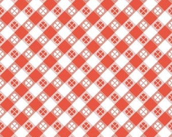 Picnic Blanket Fabric Glamper Picnic in Red for Riley Blake by Samantha Walker Glamper-licious Camping Quilt Picnic Blanket Red Gingham