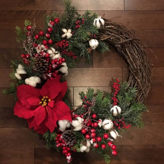 Country Christmas Wreath Christmas Wreath For Front Door