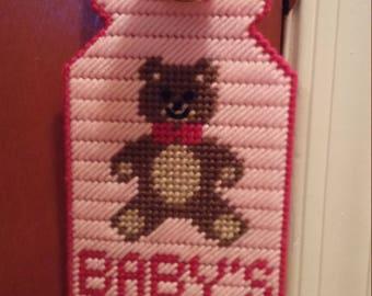 Pink Baby's Asleep Door Hanger