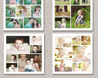 ON SALE 20x20 Story Board Collage Template for Adobe Photoshop, Blog Board Template For Photographers, sku-12