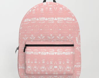 Pink Pattern Backpack