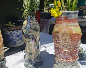 Iridescent bud vase
