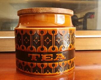 ホーンジー ヘアルーム 茶色 ティー ジャー Hornsea brown Heirloom tea storage jar