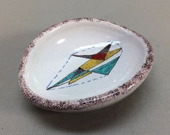 Raymor Italy Abstract Dish Bowl Signed MCM Form Vintage 1960's