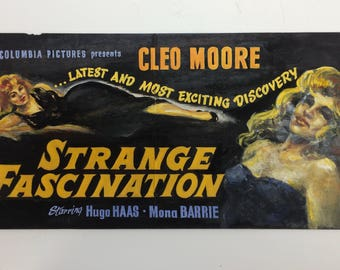 Vintage 1950's Movie Lobby Card Original Pulp Art...CLEO MOORE