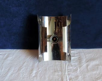 A chrome mid century modern, sputnik, Mad Men style, Atomic vintage french, sconce or wall light