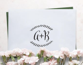 Monogram Wedding Stamp - DIY Wedding Favors