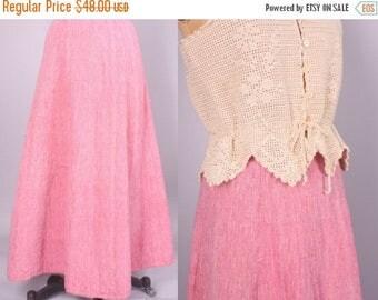 "40% SALE 1970's Indian Cotton Skirt II Vintage Maxi Skirt II 24"" waist  (xs -small)"