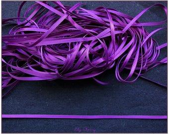 1 meter of 3mm purple satin ribbon