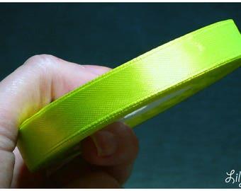1 meter of Ribbon green satin neon 12mm