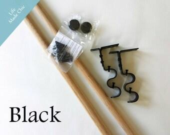 Book Sling Hardware & Dowels--Black, Bronze or Silver