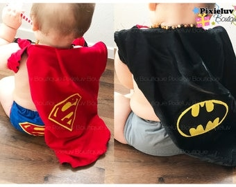 Reversible Superhero Cape, Batman and Superman Justice League (Photoshoot)