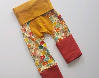Rainbow bears bootie pants//Grow with me pants//Maxaloones