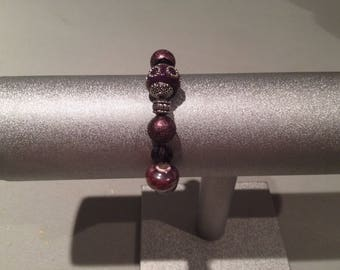 Elegant Deep Purple Stretch Bracelet