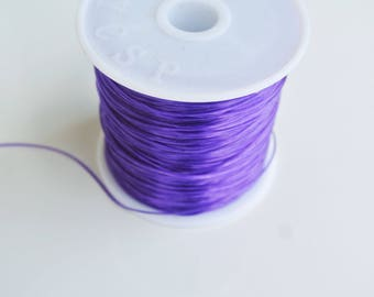 8 m with 0.5 mm purple elastic
