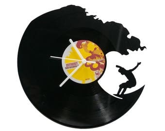 Surfer Vinyl Clock