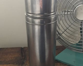 Vintage Stainless Steel Thermos by Thermos Division King Seeley / KST Thermos / Macomb, ILL