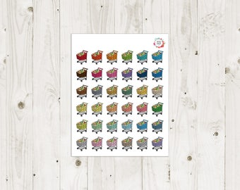 Shopping Carts Planner Stickers - ECLP Stickers
