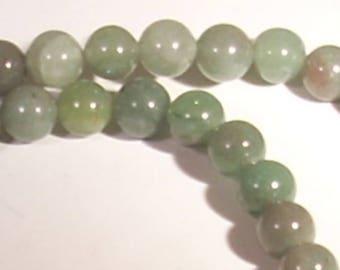 Gemstone aventurine semi-precious 8mm 10 beads