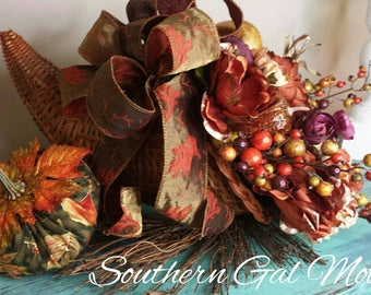 Cornucopia, Fall cornucopia, cornucopia fall arrangement, Fall floral arrangements, XL cornucopia arrangement, Thanksgiving cornucopia, Fall