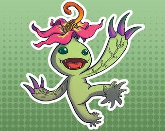 Digimon Digital Monsters - Palmon FanArt Large Die Cut Vinyl Sticker
