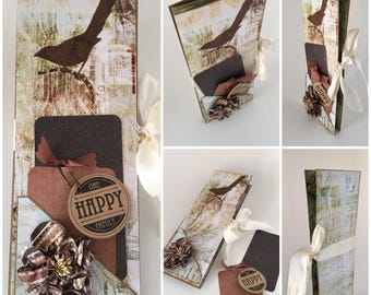Mother's Day Mini Photo Album, Family Photo Display, Interactive Card, Unique Folding Photo Card, My Family My World