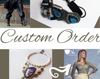 Made to order, OOAK handmade jewelry, beadwork gift for her, custom order, special occasion artisan jewelry, custom order unique jewelry