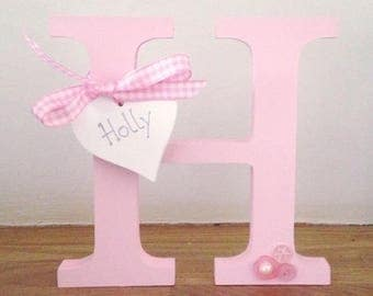 Free Standing Wooden Letter/New baby gift/baby nursery/personalised christening gift