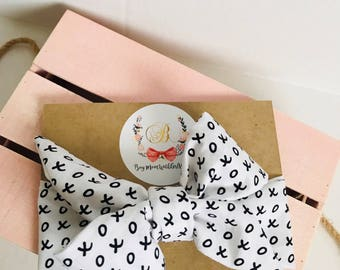 Valentines Headwrap xoxox one size fits all headband