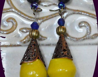 new collection earrings glass beads and original creation unique zagmoun