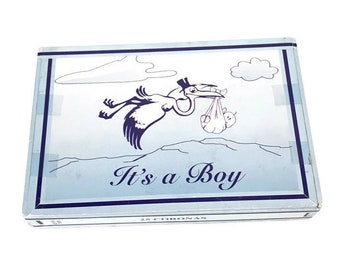 Baby Shower Prop * Gender Reveal * Cigar Box * It's A Boy