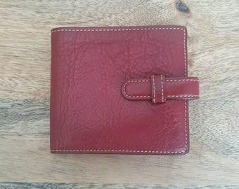 Ellington Red Leather Bifold  Wallet