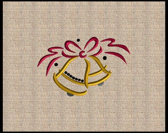 Christmas Bells Embroidery Design Christmas Bell with Ribbon Embroidery Design Bell Embroidery Design Machine Embroidery Design