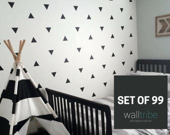 Triangle Wall Stickers - Triangle Wall Decals  - Vinyl Triangle Wall Art  0036