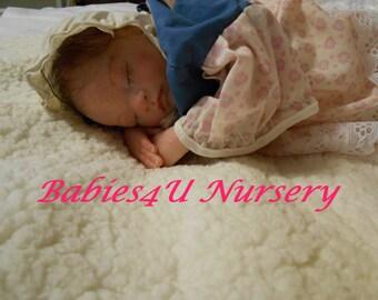 Reborn Baby Girl Preemie, Sleeping, Newborn Premature Baby, Adorable, Brown hair, Lifelike  by Babies4U Nursery