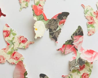 35 Butterfly Die Cuts, Paper Butterfly, Baby Shower Decor, Butterfly Decorations, Wedding Decor