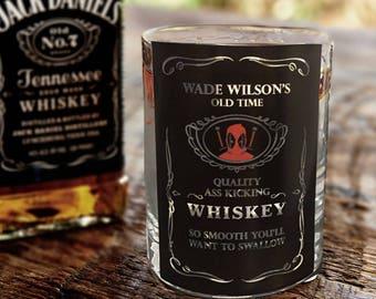 Funny Superhero Jack Daniel's Inspired Whiskey Glass - Great gift!  (Arrow / Flash / Deadpool / Superman / Batman / Harley Q / Joker)