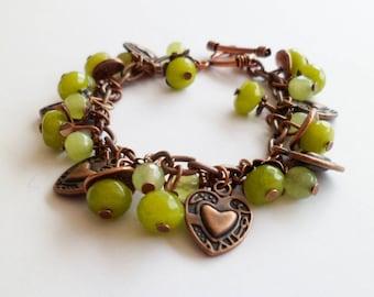 Bohemian Chic bracelet Valentine Peridot