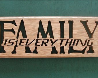"Wall Decor ""FAMILY-Is Everything"" Cut On Scroll Saw"