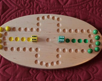 Two player Aggravation Game Solid Maple