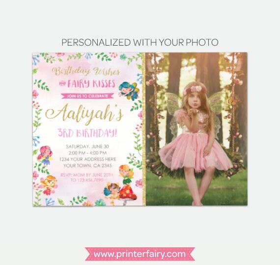 Fairy birthday invitation with photo magical invitation fairy il570xn filmwisefo