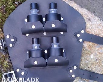 Potion Vambrace for Larp, Cosplay or Alchemists with plastic potion bottles