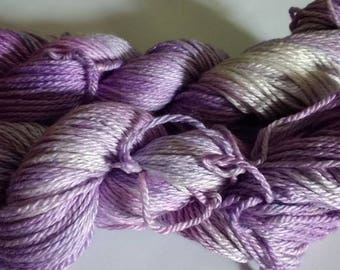 Petal kettle dyed merino silk aran yarn