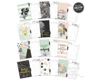 Beautiful A5 Planner Inserts - A5 Planner Dividers - A5 Planner Pages - Monthly Inserts - Carpe Diem Beautiful Collection - 021712