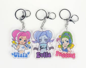 "Space Channel 5 3"" Acrylic keychains!"