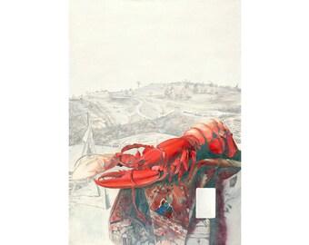 Gettysburg Lobster original oil painting 28x20