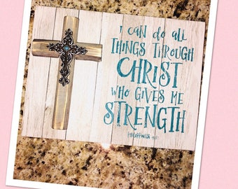Christ strength hanging