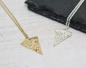 Pizza Slice Necklace, Pizza Necklace, Miniature Food Necklace, Pizza Jewellery, Food Jewellery, Cute Necklace, Pizza Jewelry, Food Jewelry