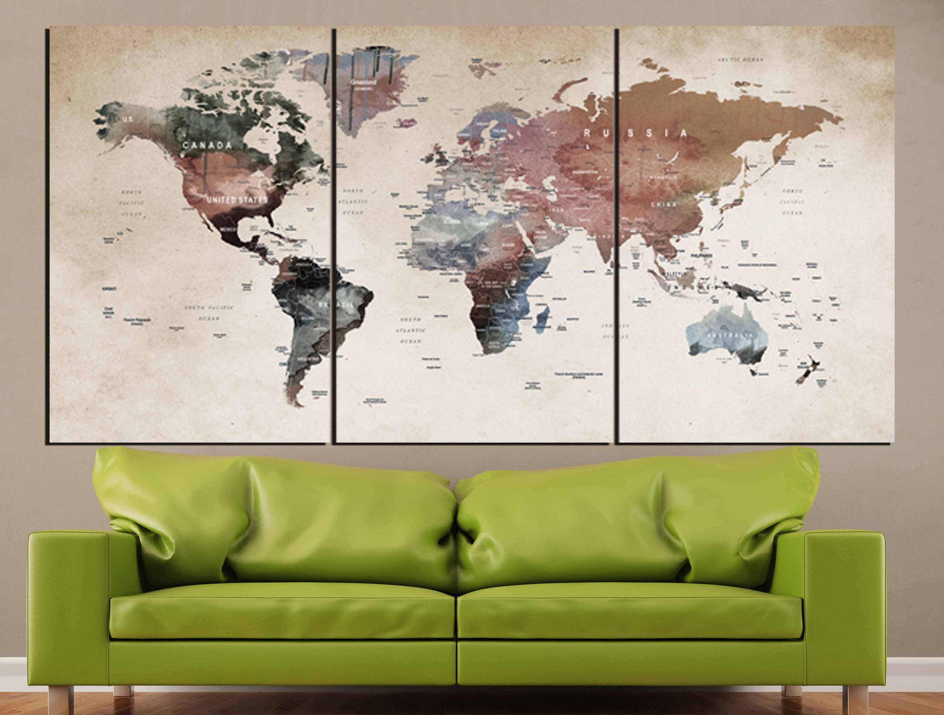 World map wall artworld map canvasworld map printlarge world gallery photo gallery photo gallery photo gumiabroncs Gallery