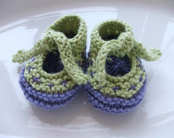 Knitted 'Scandi' baby shoes